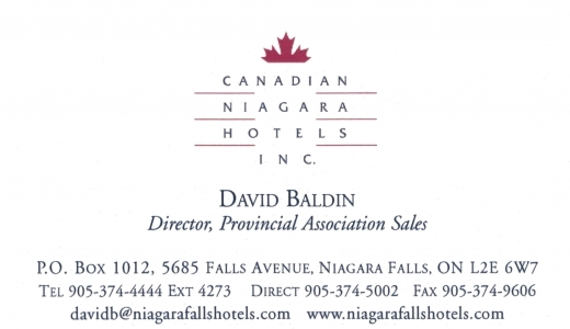 Canadian Niagara Hotels Inc Booth